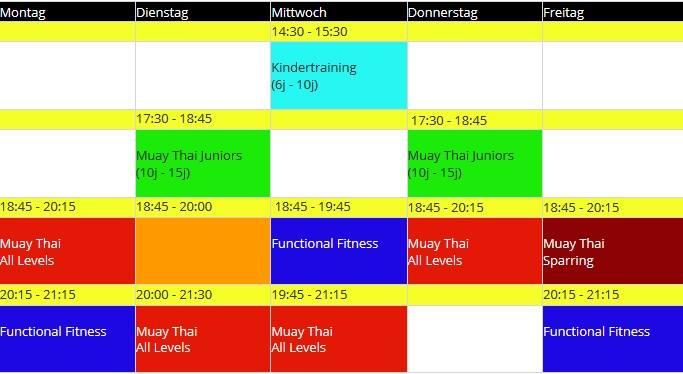 Thaiboxen-zuerich-stundenplan